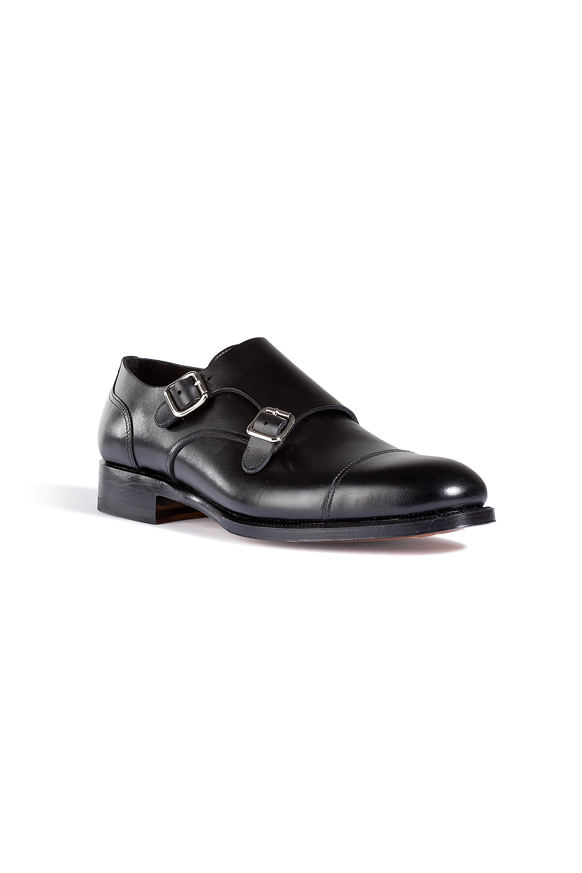 dsquared 178 leather monk shoes in black for lyst