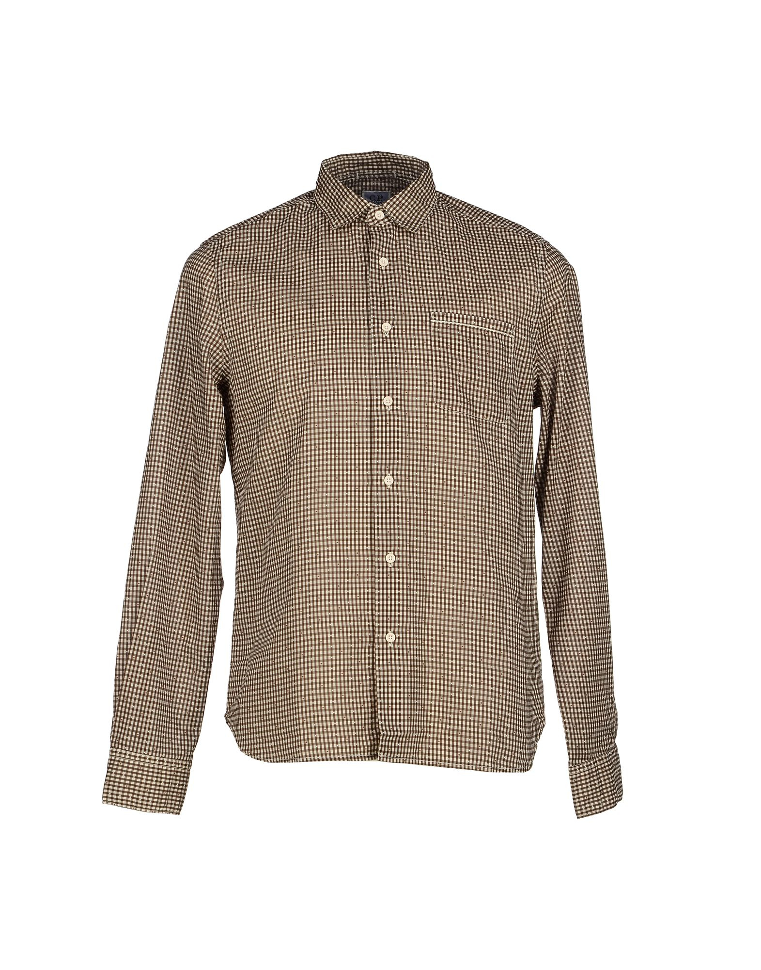 Lyst c p company shirt in brown for men for Black brown mens shirts