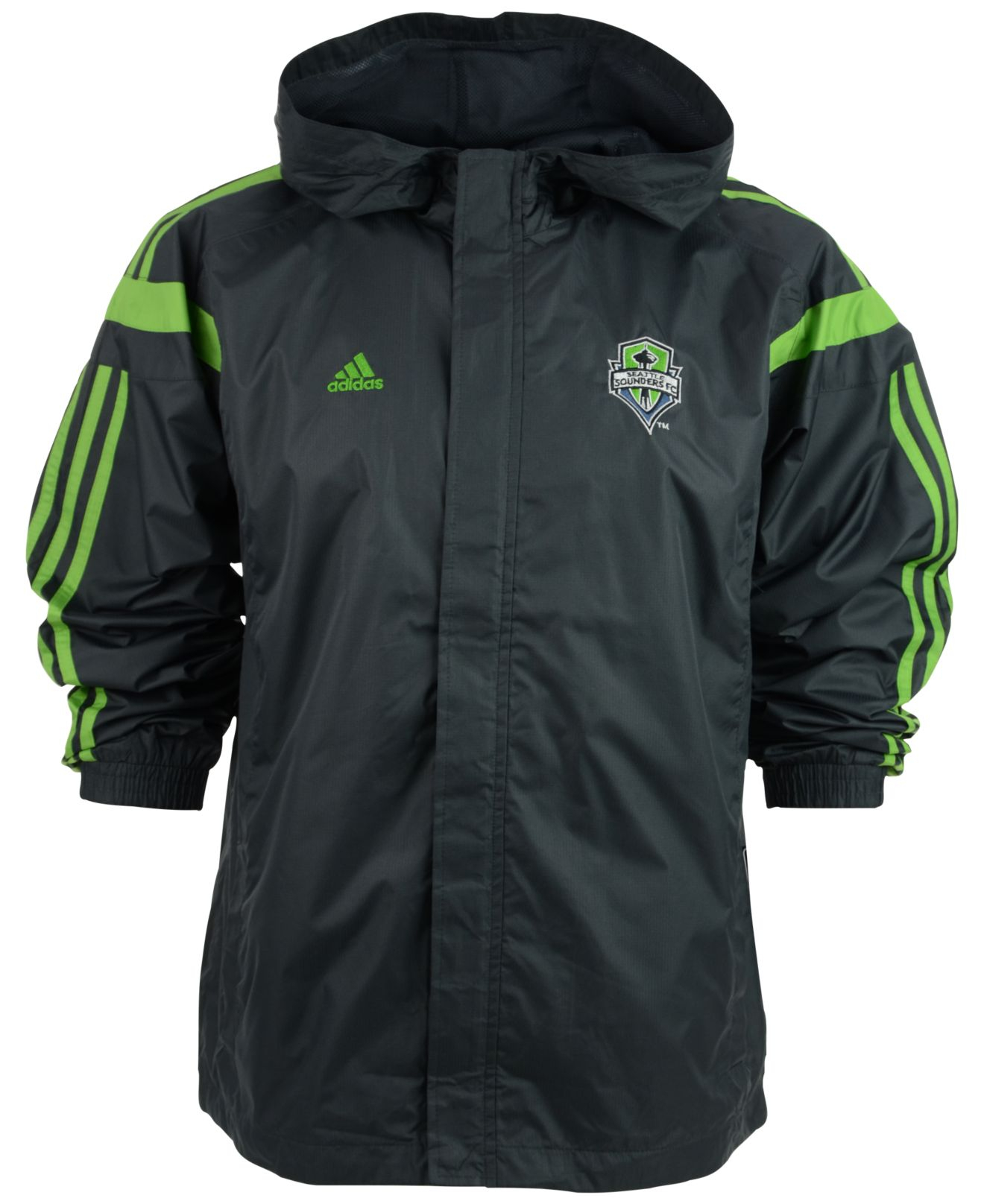 meet aa0f9 f8ee1 Adidas Green Kids Seattle Sounders Fc Rain Jacket for men