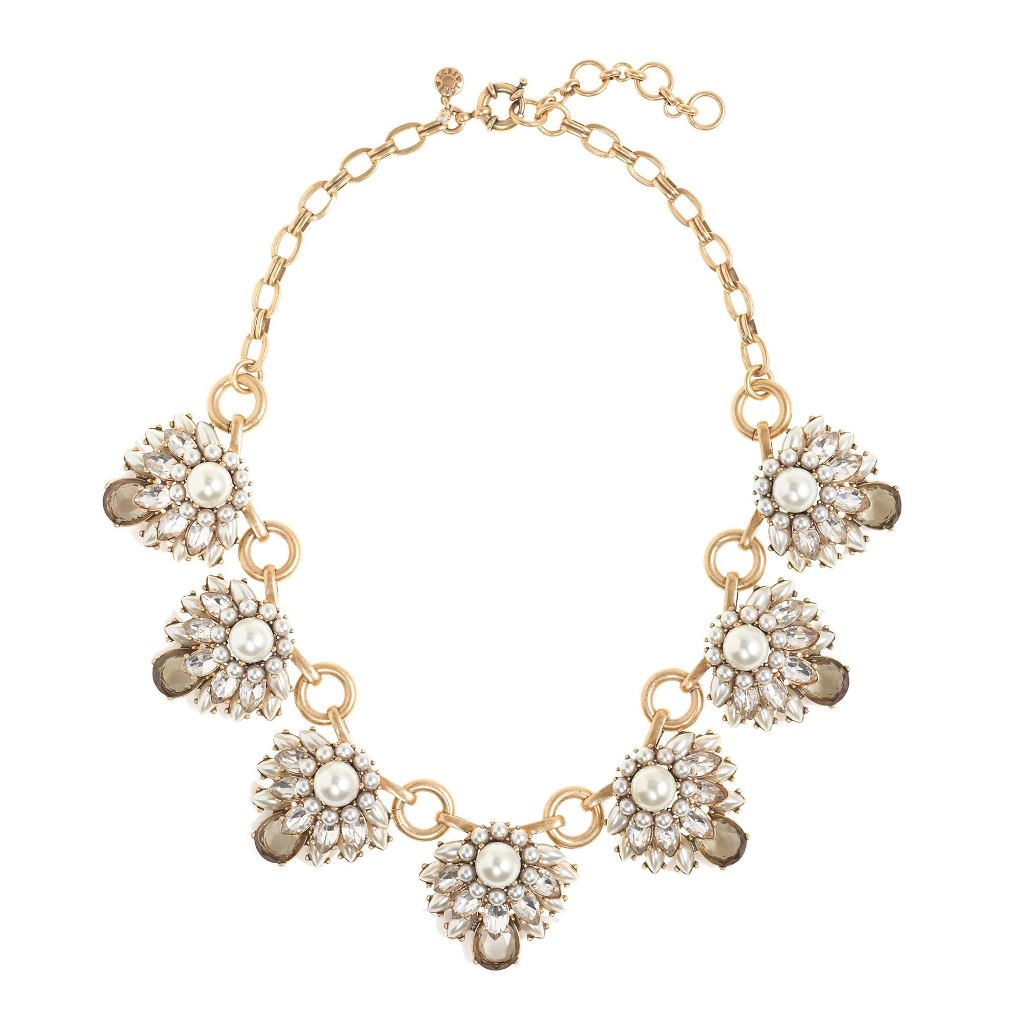 j jewelry j crew stacked pearls necklace in white lyst 4430