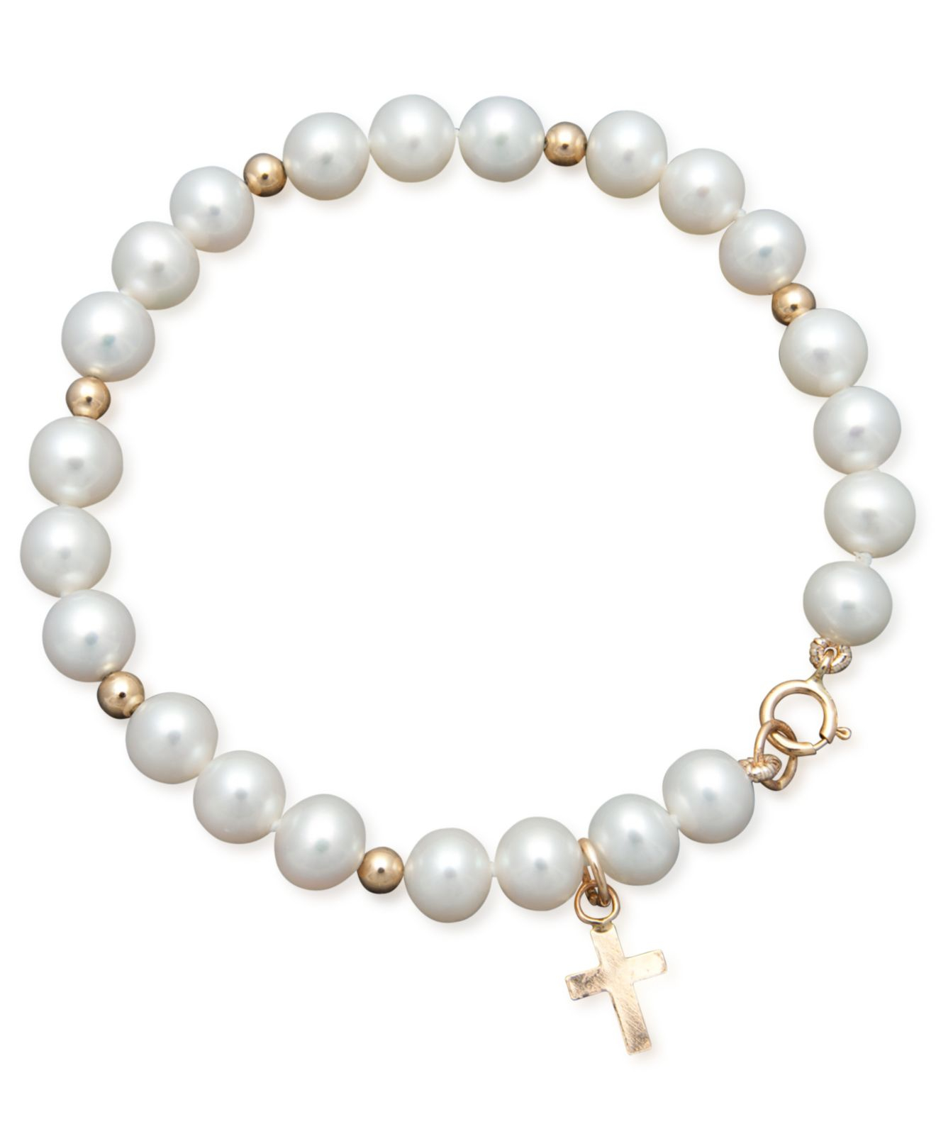 macy 39 s pearl bracelet children 39 s 14k gold cultured