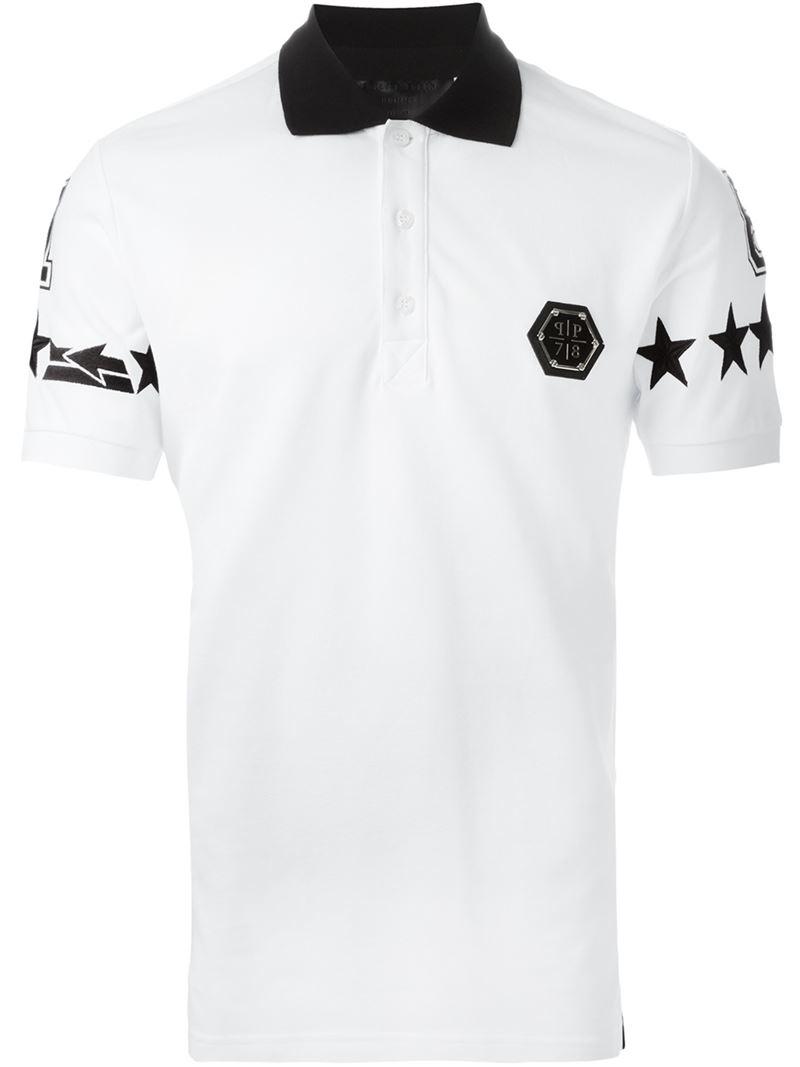 philipp plein unstoppable polo shirt in white for men lyst