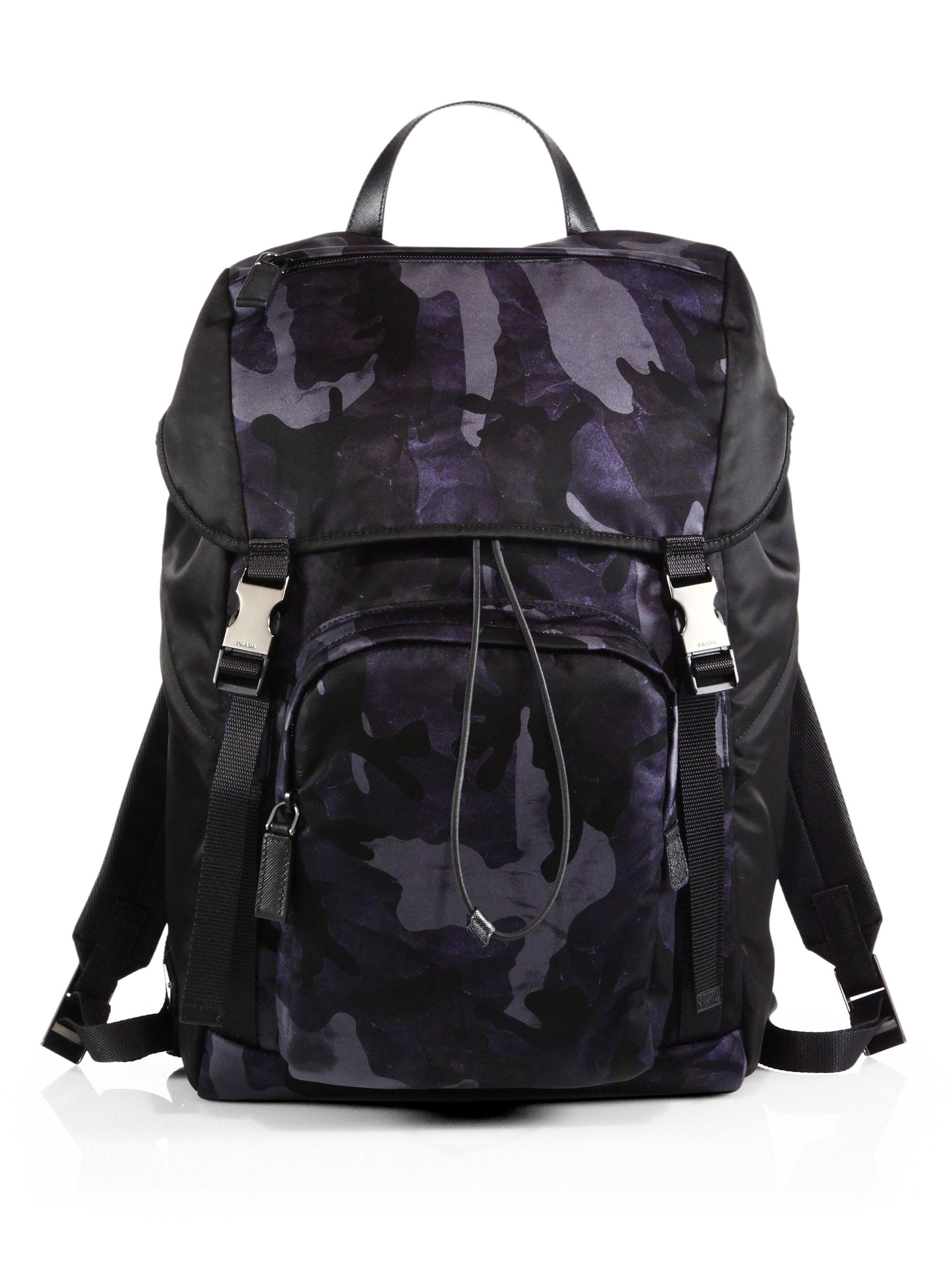 prada blue cloth backpack