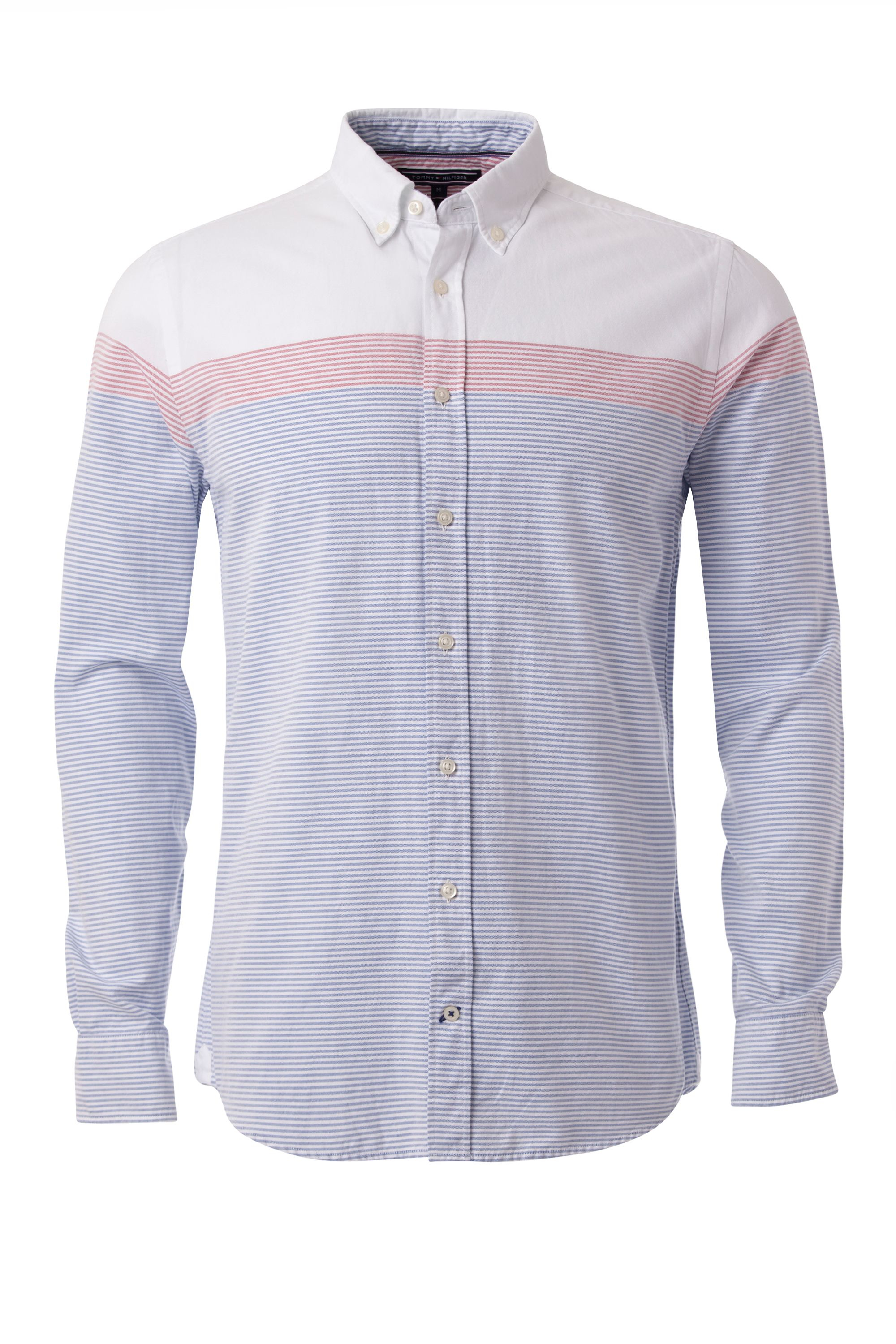 Lyst tommy hilfiger engineered ithaca stripe shirt in for Ithaca t shirt printing