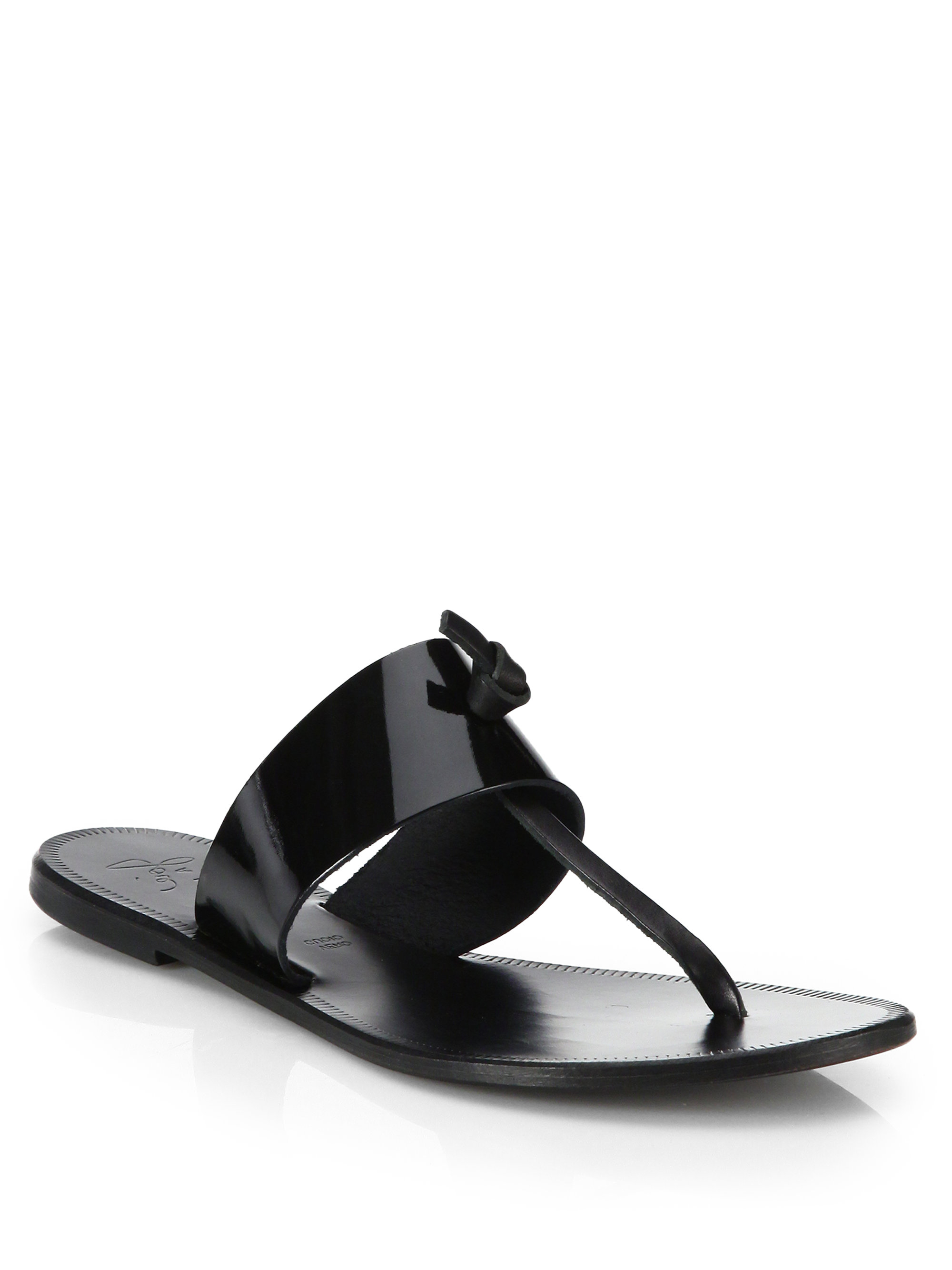 Joie Nice Patent Leather Thong Sandals