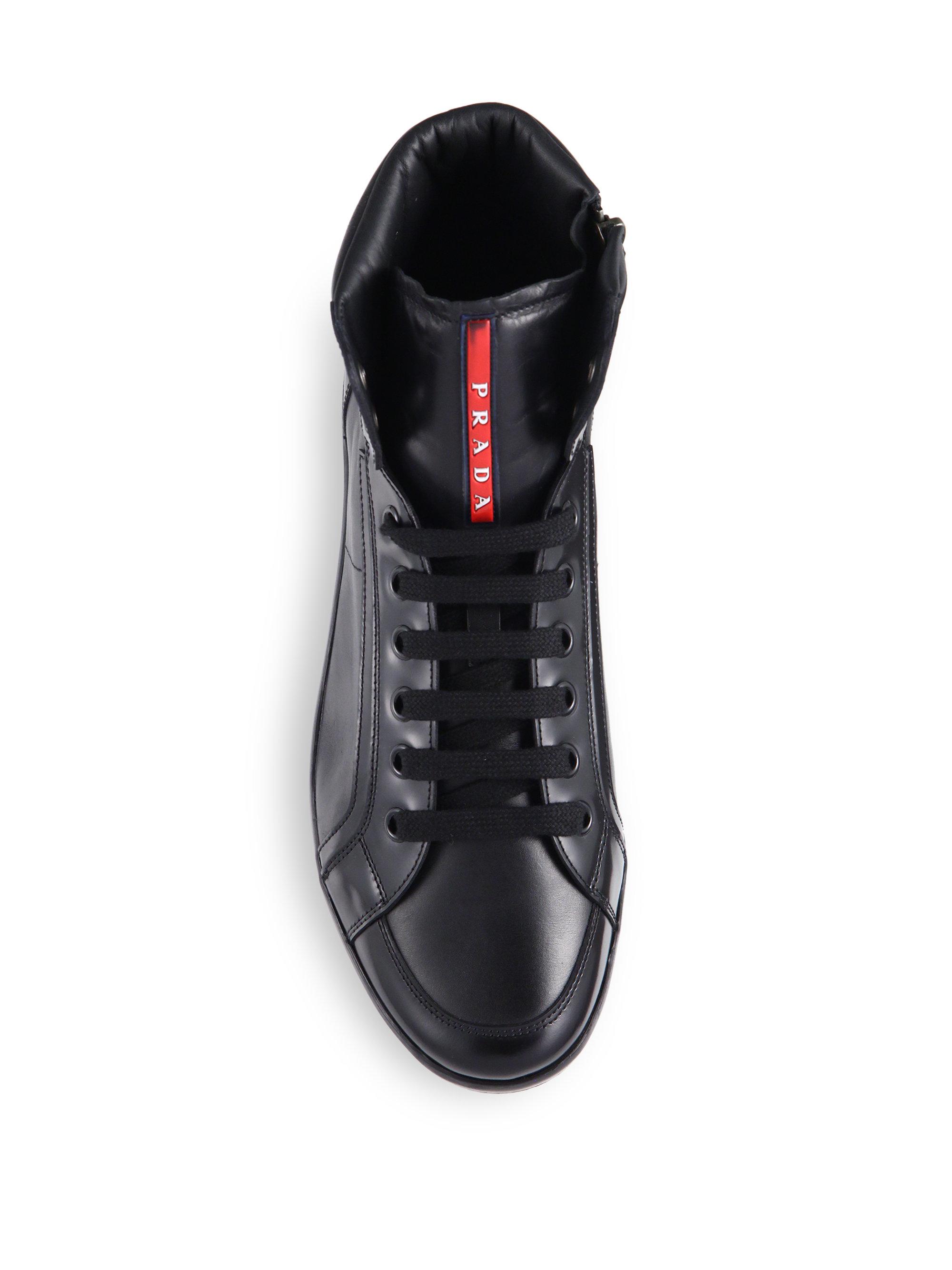 prada leather sneakers for men