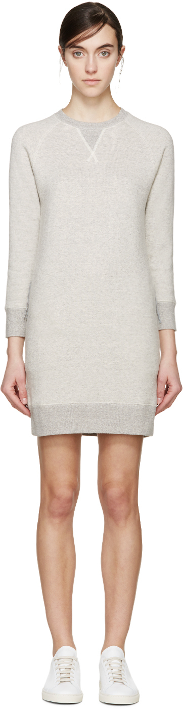 Nlst Grey Pullover Dress in Gray | Lyst
