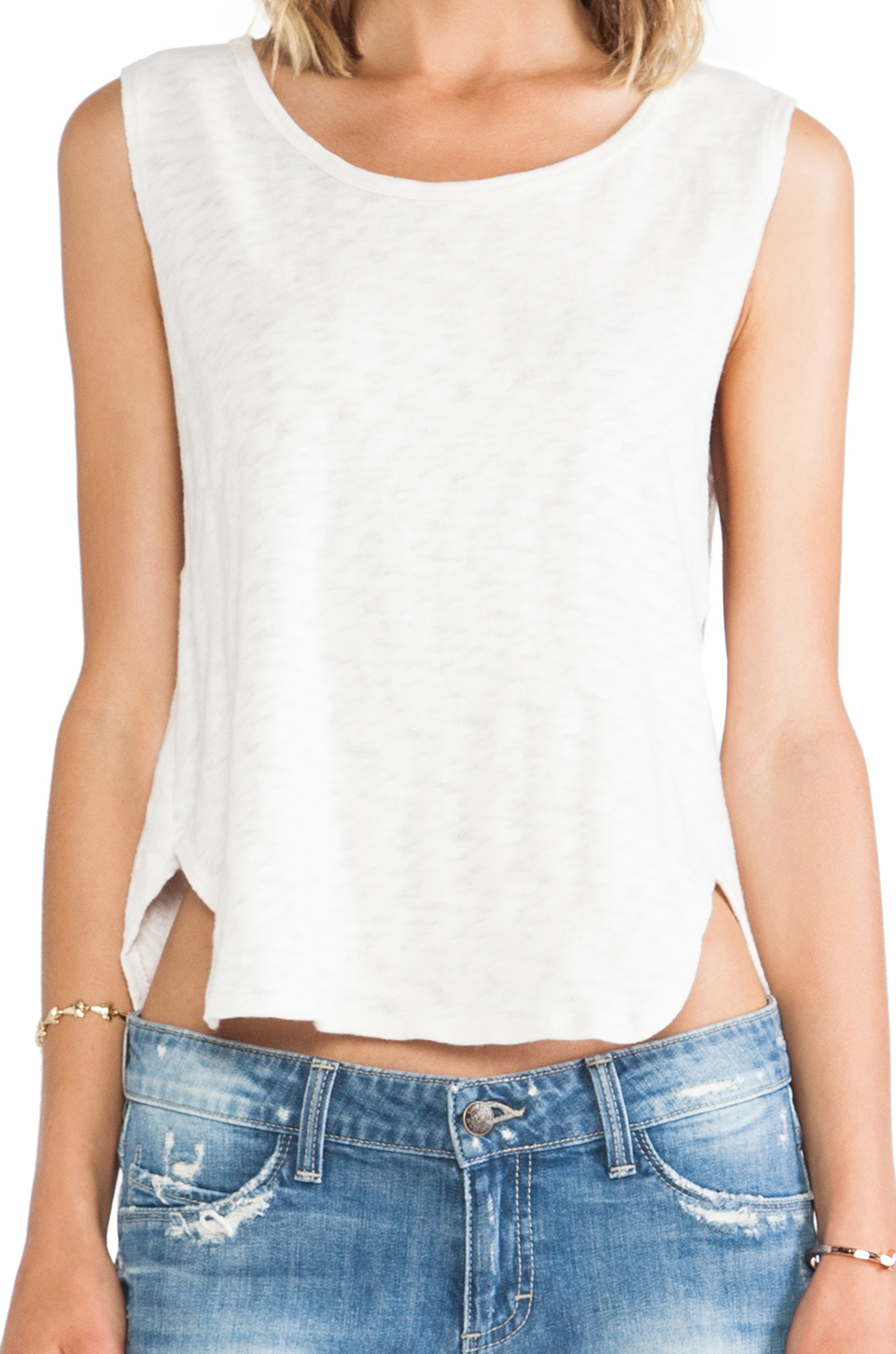 Lyst Lna Anja Tank In White Top Gallery