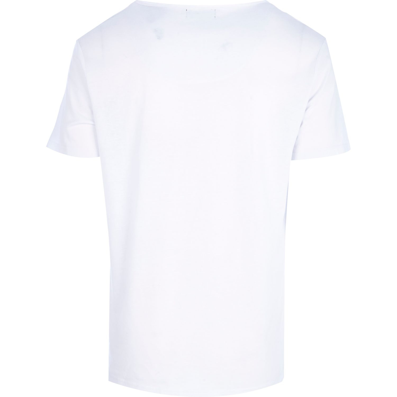 River Island White Moth Smoke Print T-Shirt for Men