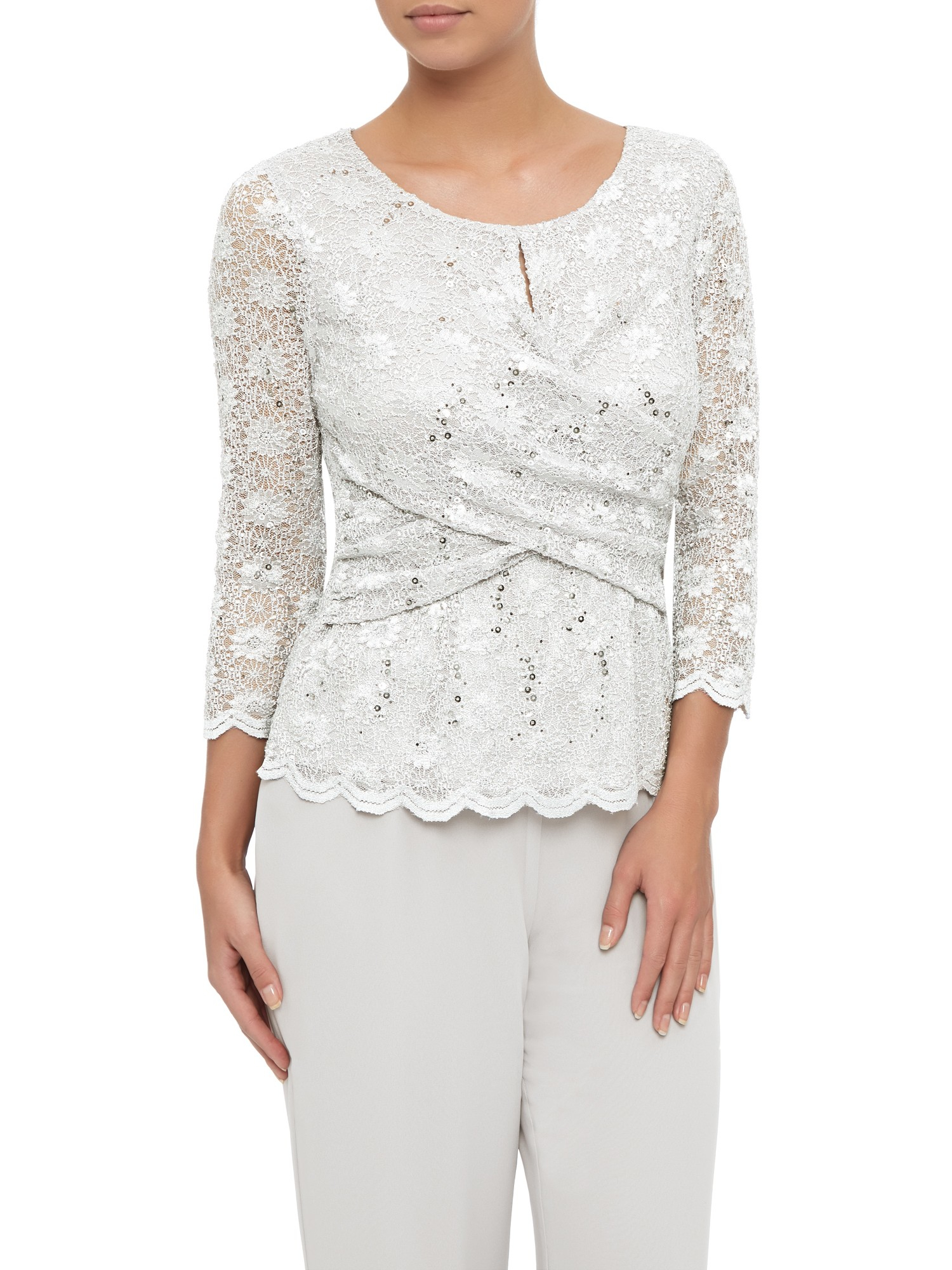 Find grey lace top at ShopStyle. Shop the latest collection of grey lace top from the most popular stores - all in one place.