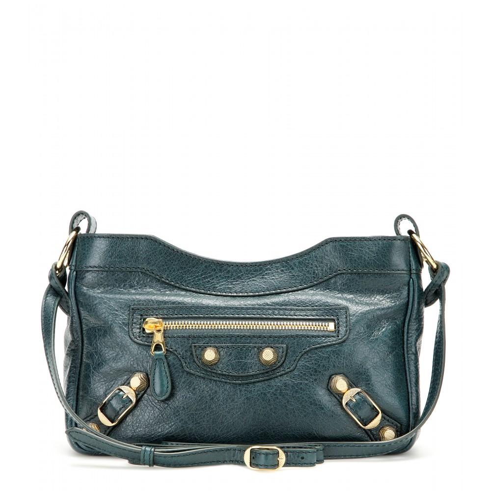 d1c795f47b Balenciaga Giant Hip Leather Shoulder Bag in Blue - Lyst