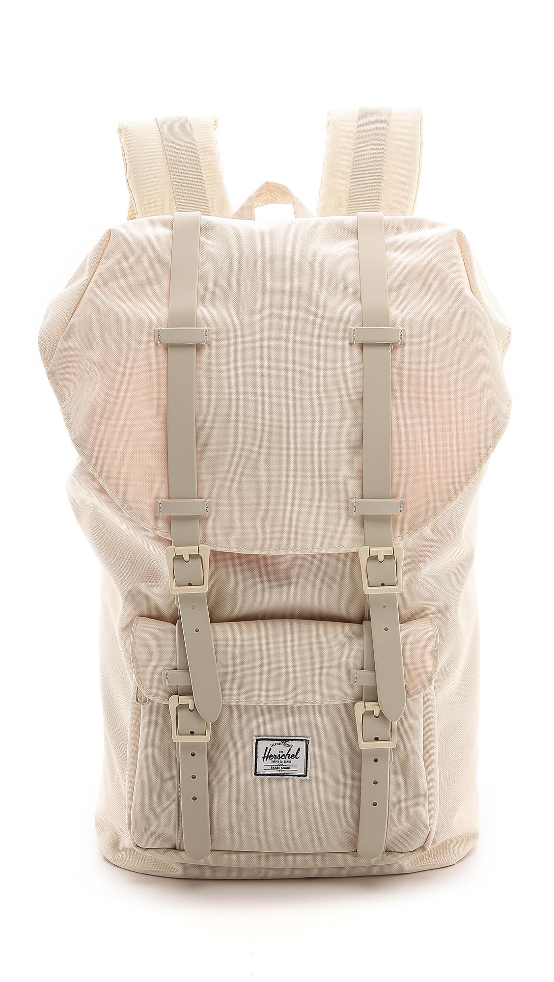 herschel supply co little america classic backpack in natural for men lyst. Black Bedroom Furniture Sets. Home Design Ideas
