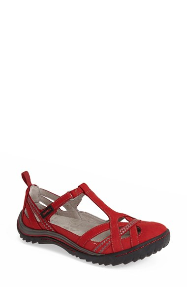 Jambu Charley Leather Flat In Red Lyst