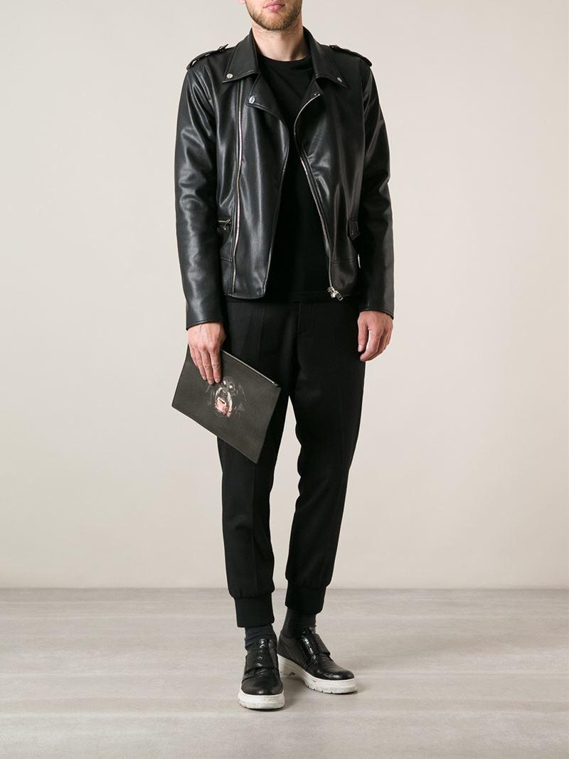 468942d355 Givenchy 'Antigona' Rottweiler Print Clutch in Black for Men - Lyst