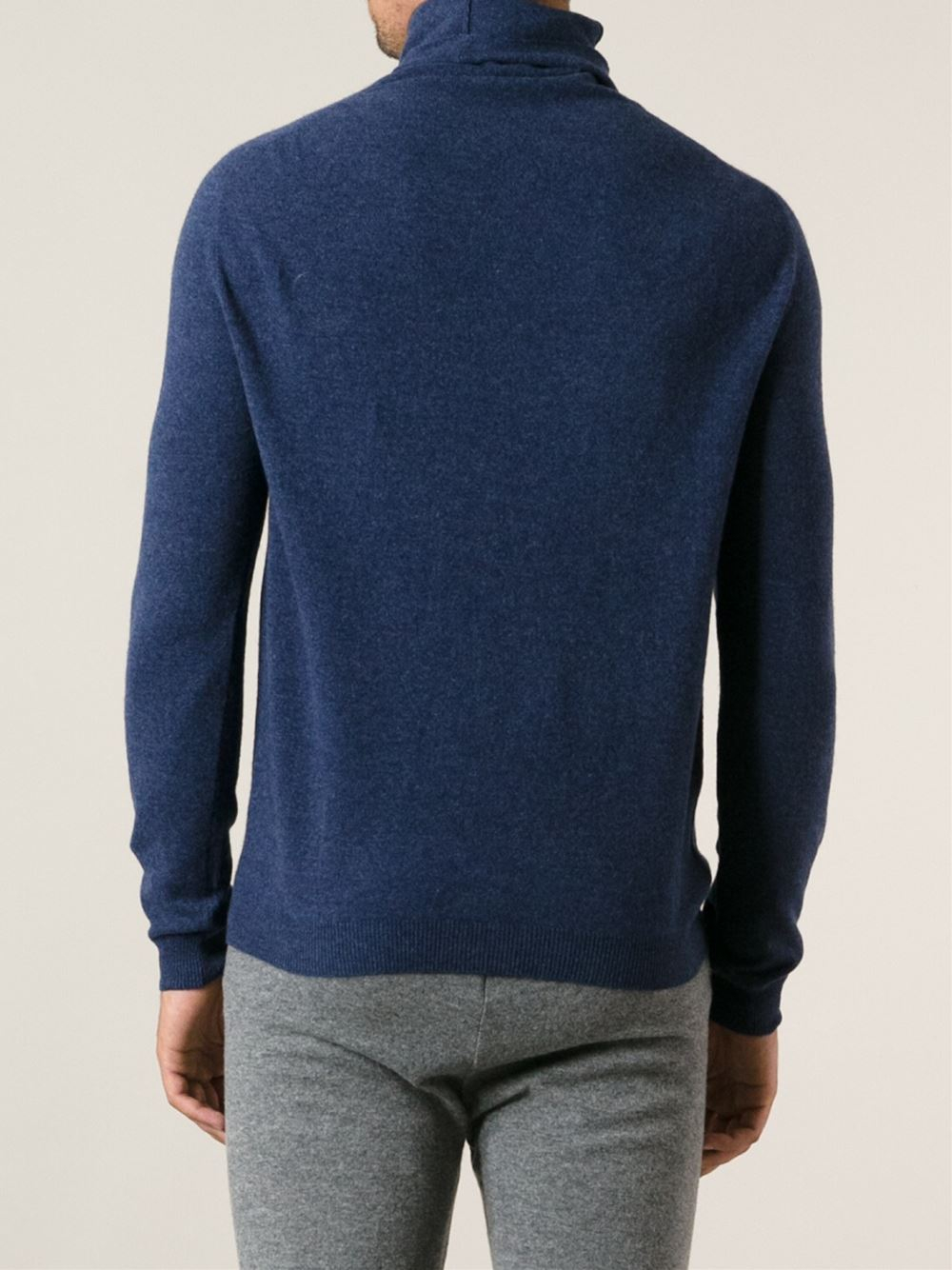 haider ackermann vicopano turtleneck sweater in blue for. Black Bedroom Furniture Sets. Home Design Ideas