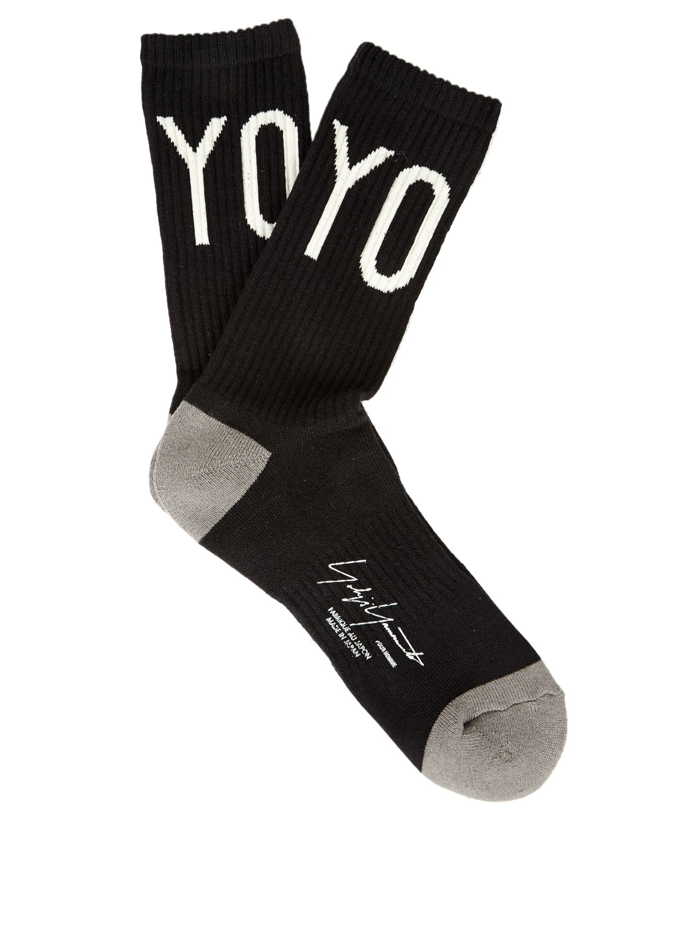 Cheap Sale Looking For Newest For Sale intarsia-knit socks - White Yohji Yamamoto Go05T2