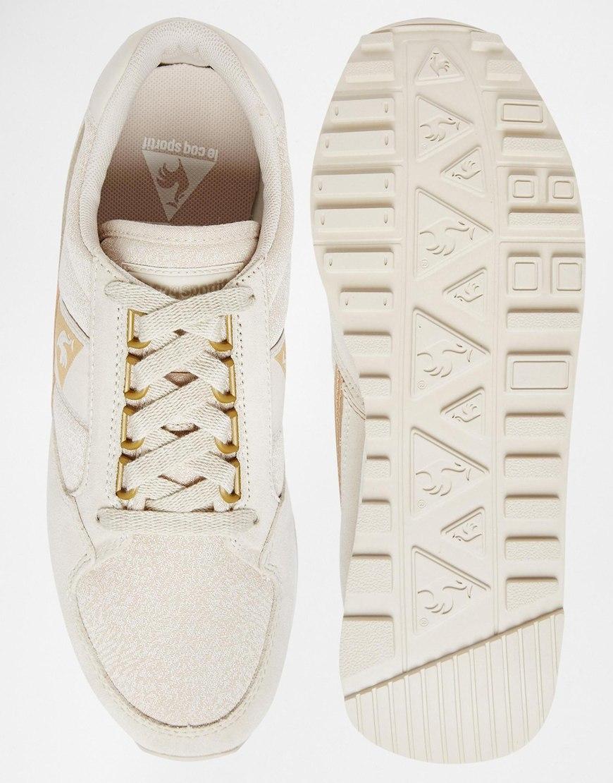 pretty nice af1b1 7b990 le coq sportif shoes white gold