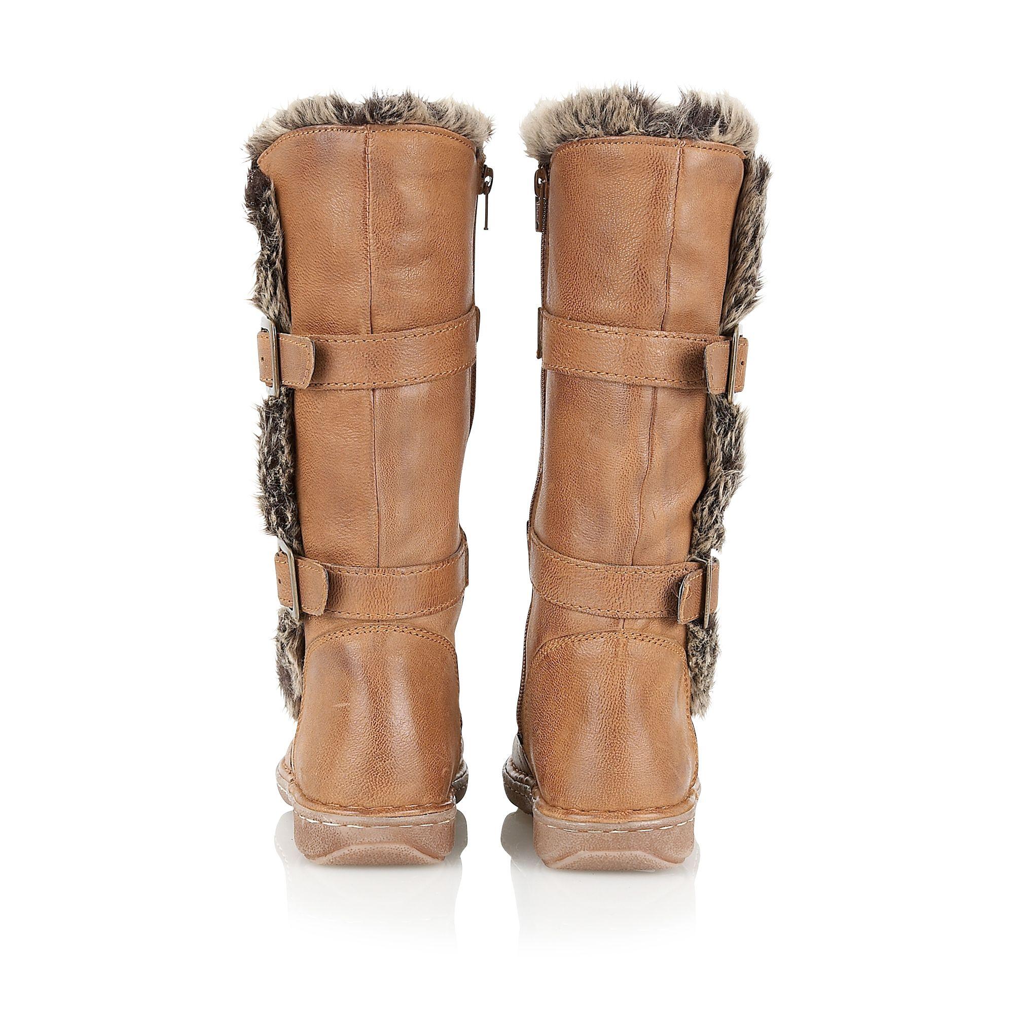 Lotus Leather Sard Casual Boots in Tan (Brown)