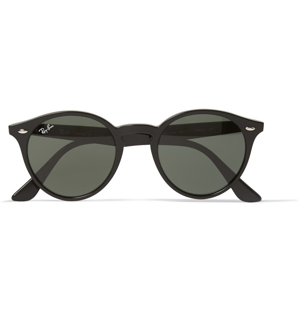 Ray Ban Round Frame Sunglasses : Ray-ban 2180 Round-frame Acetate Sunglasses in Black for ...