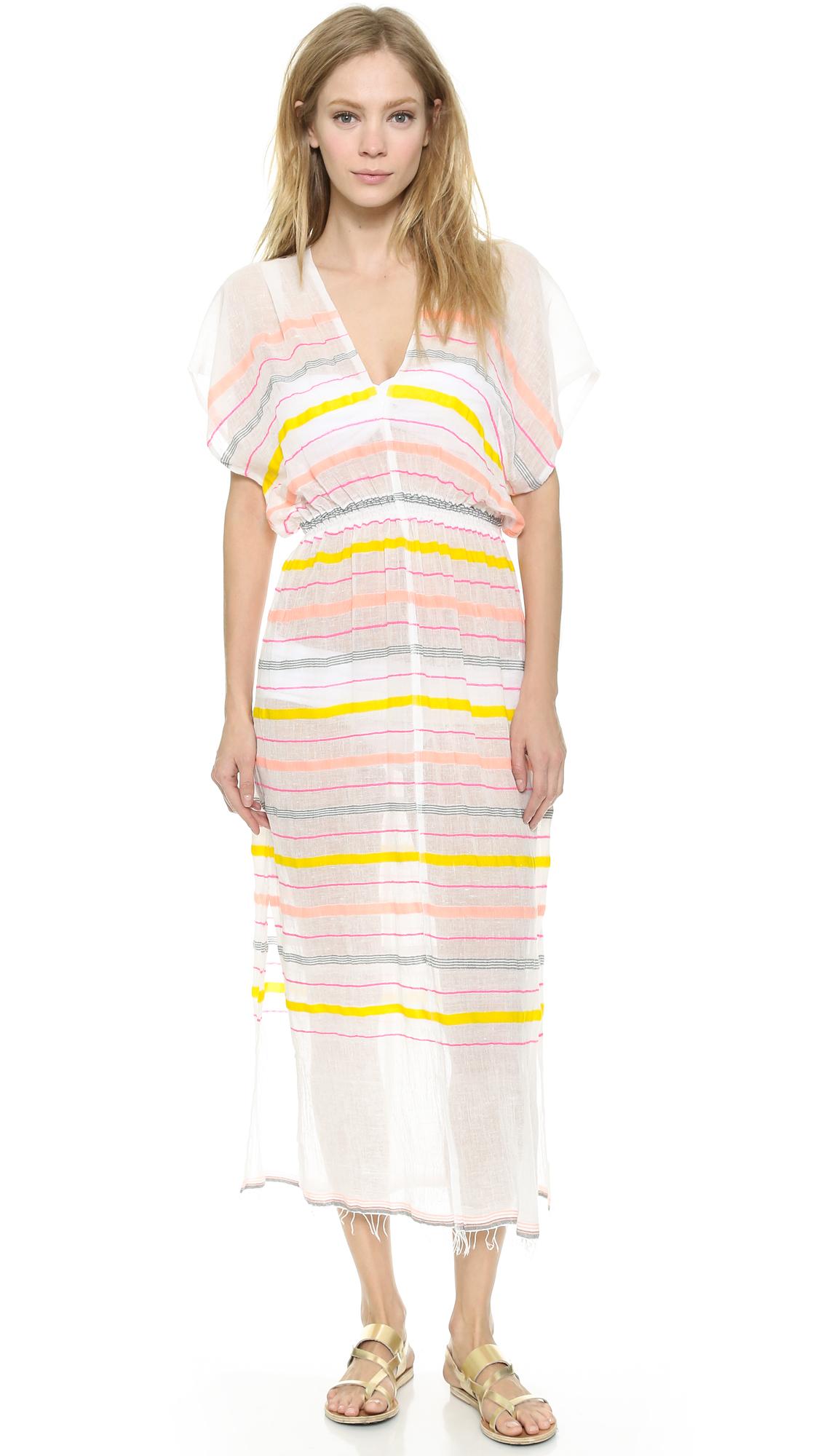 Lyst Lemlem Lelaga Patio Dress Peach