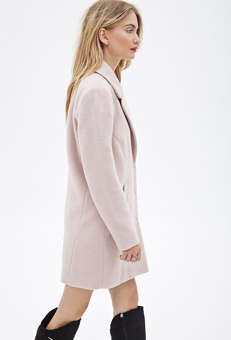 Forever 21 Contemporary Classic Car Coat in Pink | Lyst