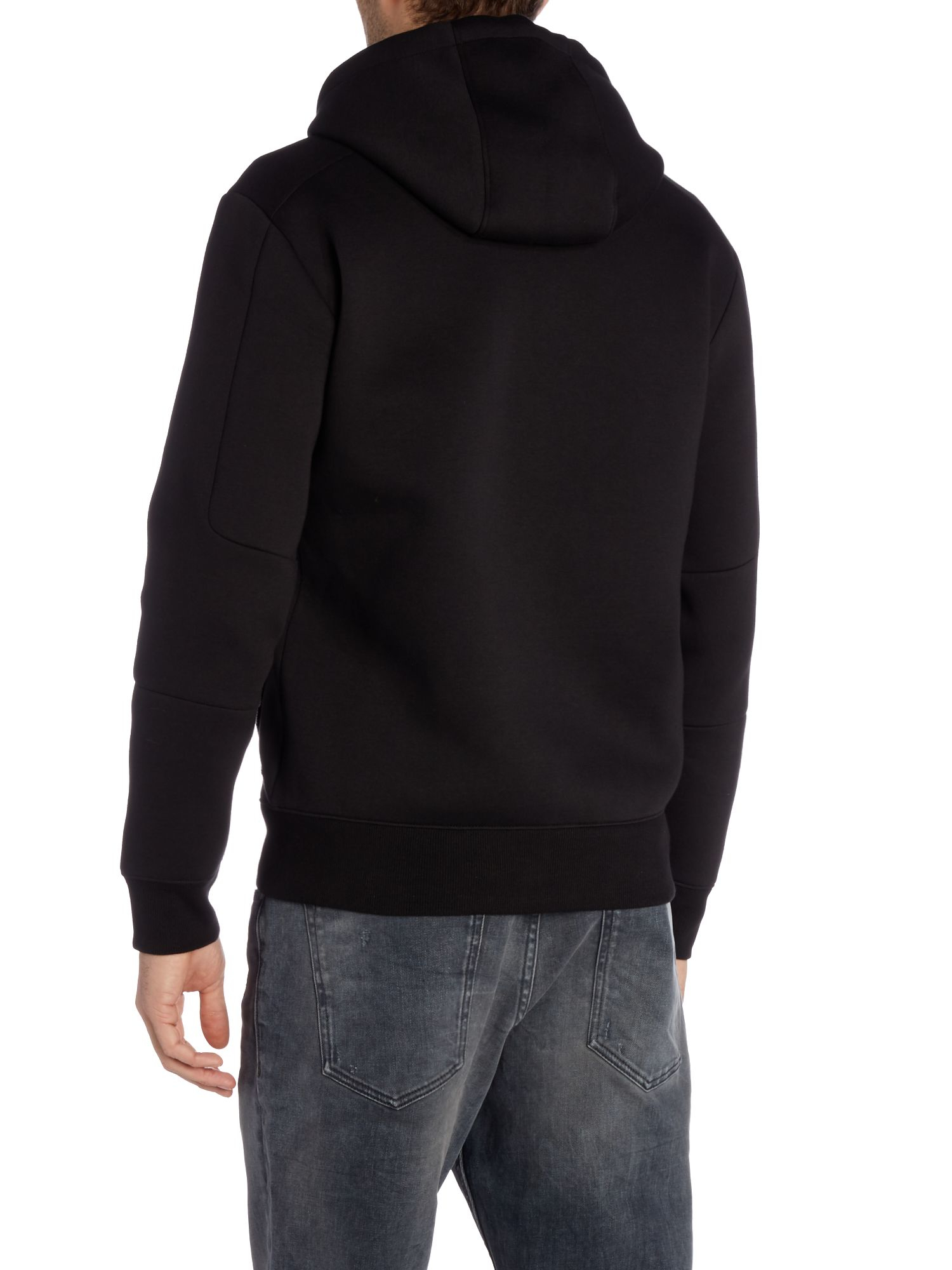 calvin klein jepson long sleeve zip through hoodie in black for men lyst. Black Bedroom Furniture Sets. Home Design Ideas