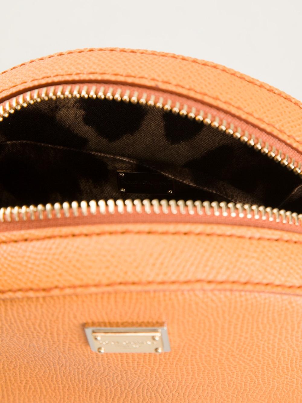 Dolce & Gabbana Round Cross Body Bag in Yellow & Orange (Orange)