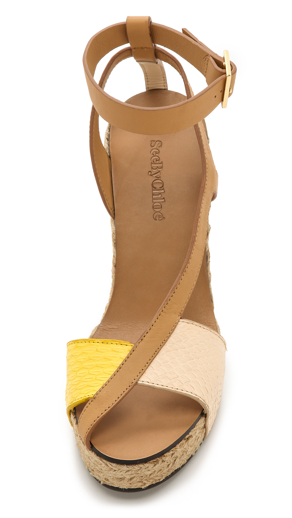 Lyst See By Chlo 233 Cross Strap Espadrille Wedge Sandals