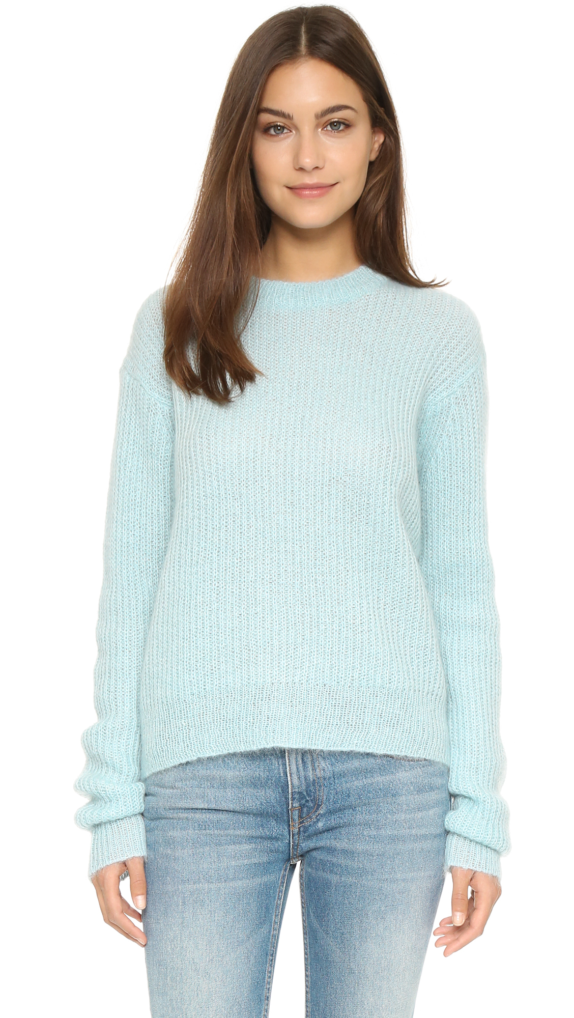 t by alexander wang mohair crew neck sweater in blue lyst. Black Bedroom Furniture Sets. Home Design Ideas