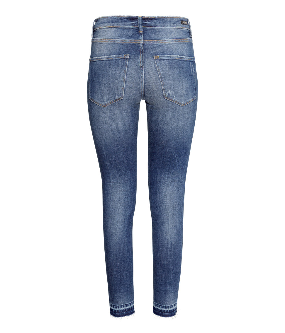 lyst h m shaping skinny regular jeans in blue. Black Bedroom Furniture Sets. Home Design Ideas