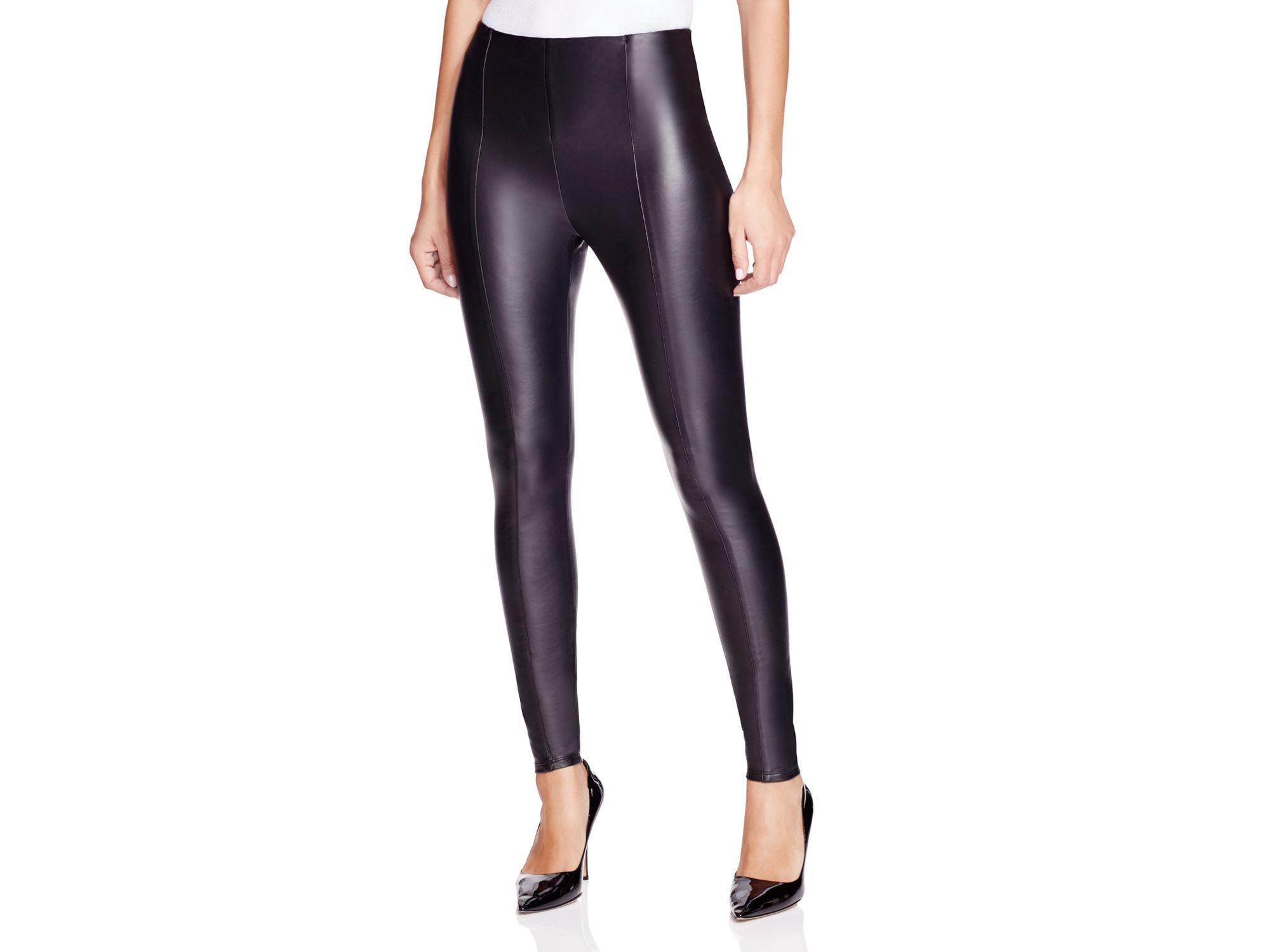 Lyss 233 Faux Leather Leggings In Black Lyst