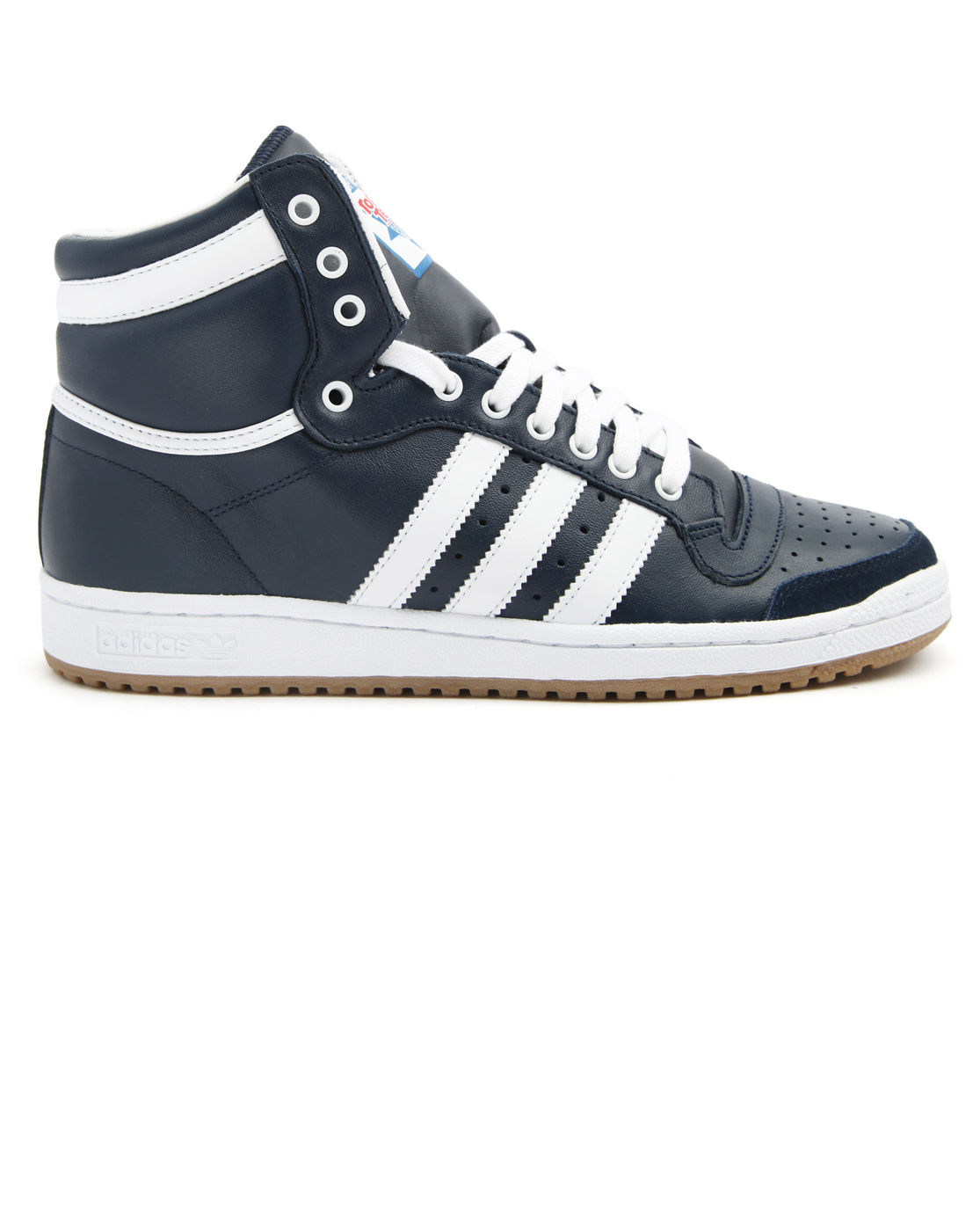 Adidas Top Ten Hi Blue Leather Sneakers In Blue For Men