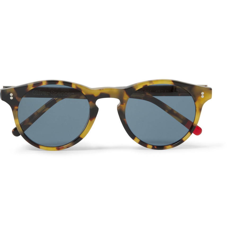 cc04dfcab8c0 Oliver Spencer Sid Round-Frame Tortoiseshell Acetate Sunglasses in ...