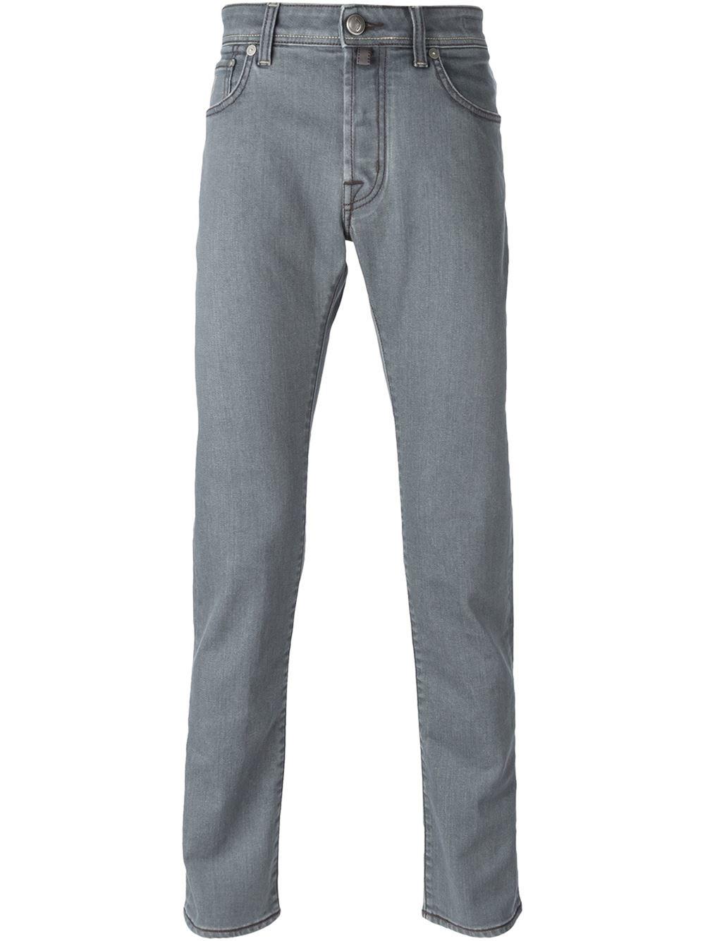 jacob cohen gray slim fit jeans for men lyst. Black Bedroom Furniture Sets. Home Design Ideas