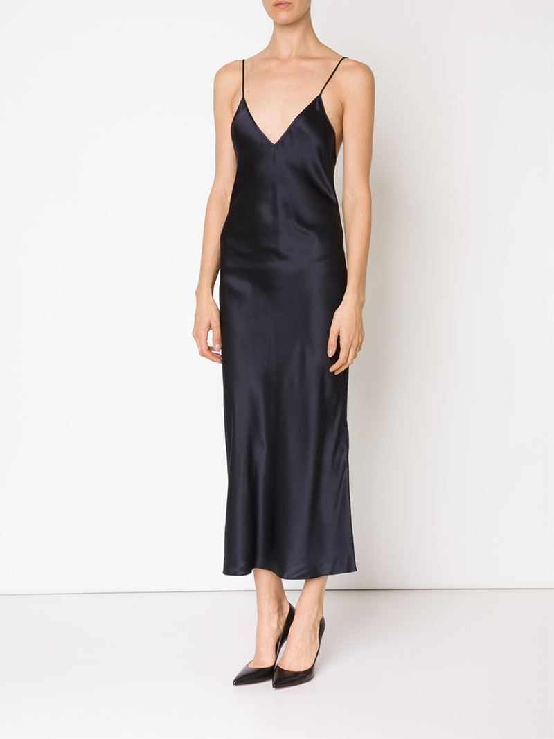 Protagonist Long Slip Dress in Blue  Lyst