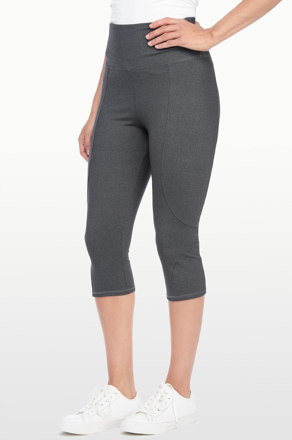 Nydj City/sport Slimming Yoga Crop in Gray