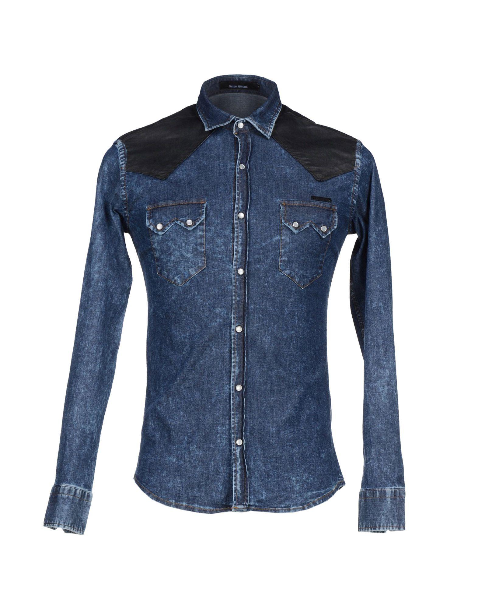 Lyst - Takeshy Kurosawa Denim Shirt in Blue for Men