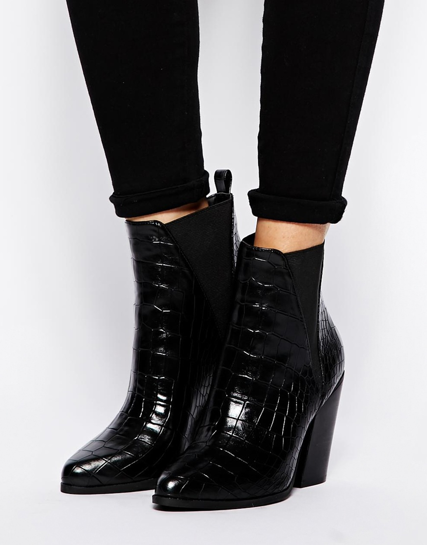 asos eagle ankle boots in black lyst