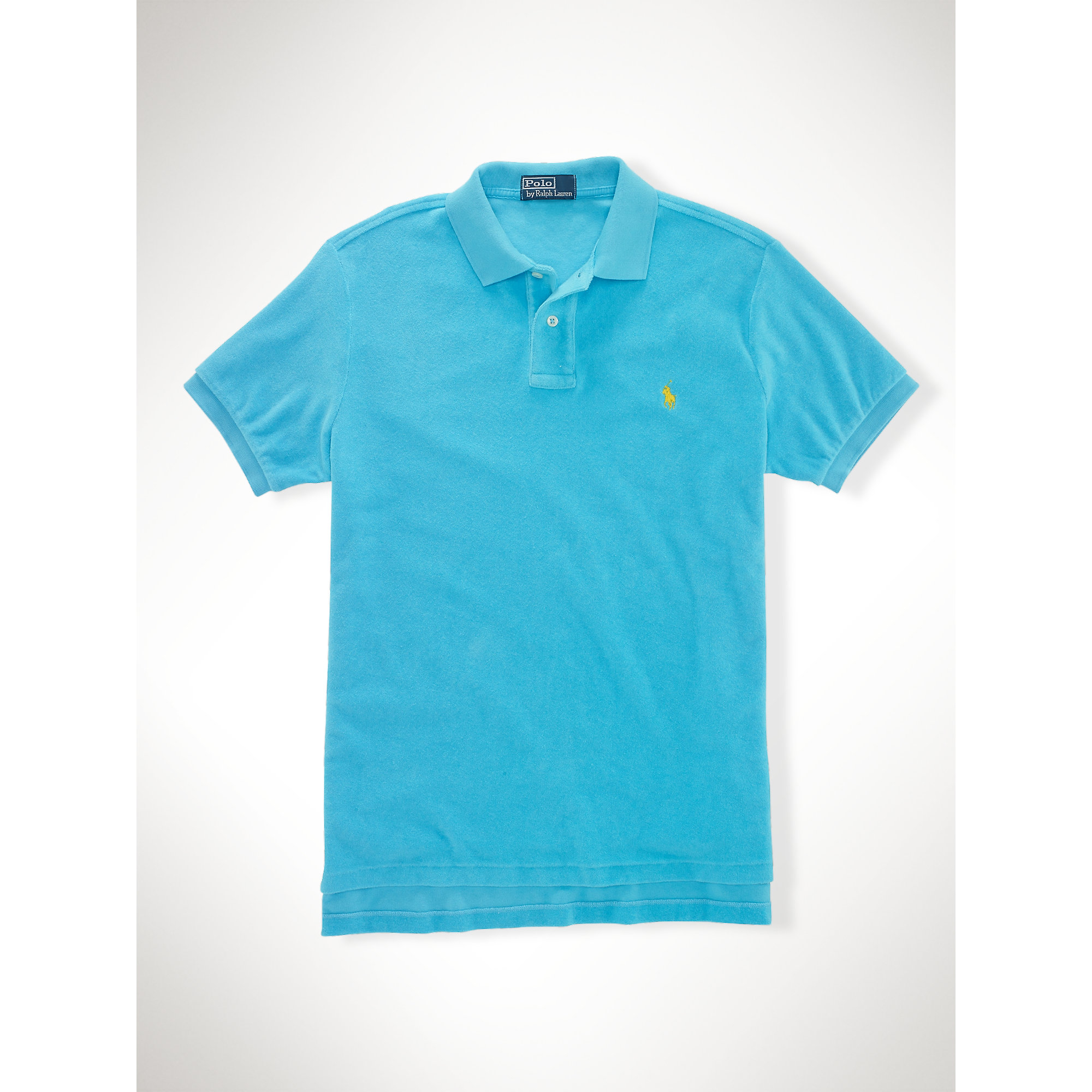 Lauren Custom Cloth Men Ralph Fit For Polo Blue Terry 2WED9IH