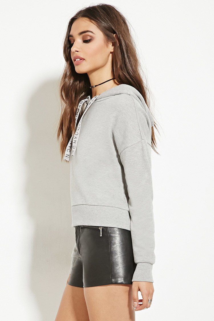Forever 21 New York City Of Dreams Hoodie In Gray