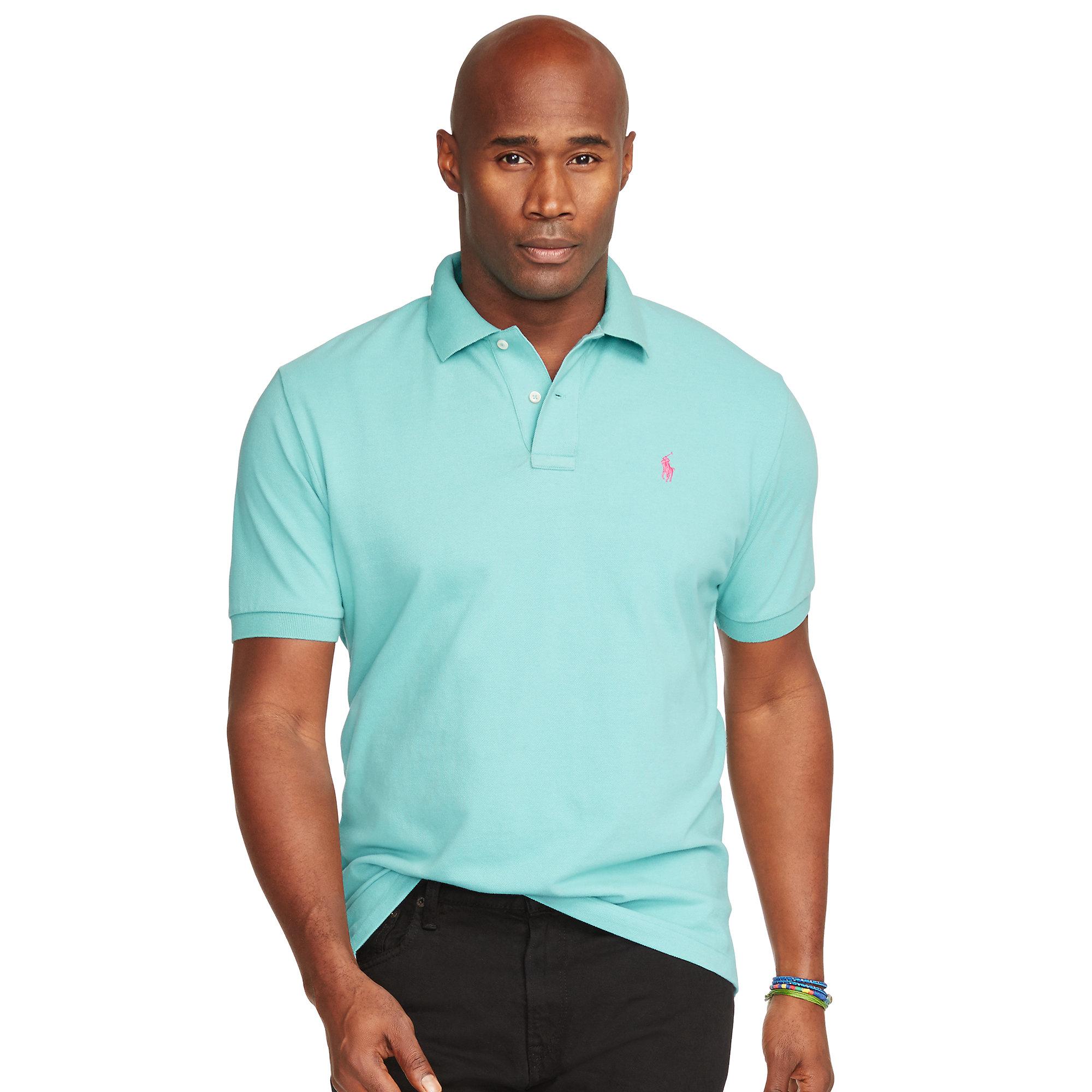 Pink Pony Classic Fit Mesh Polo Shirt In Green For Men Lyst