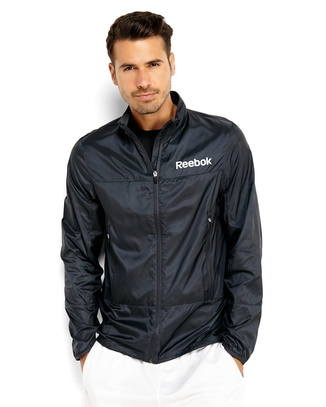 Reebok Lightweight Jacket in Black for Men | Lyst