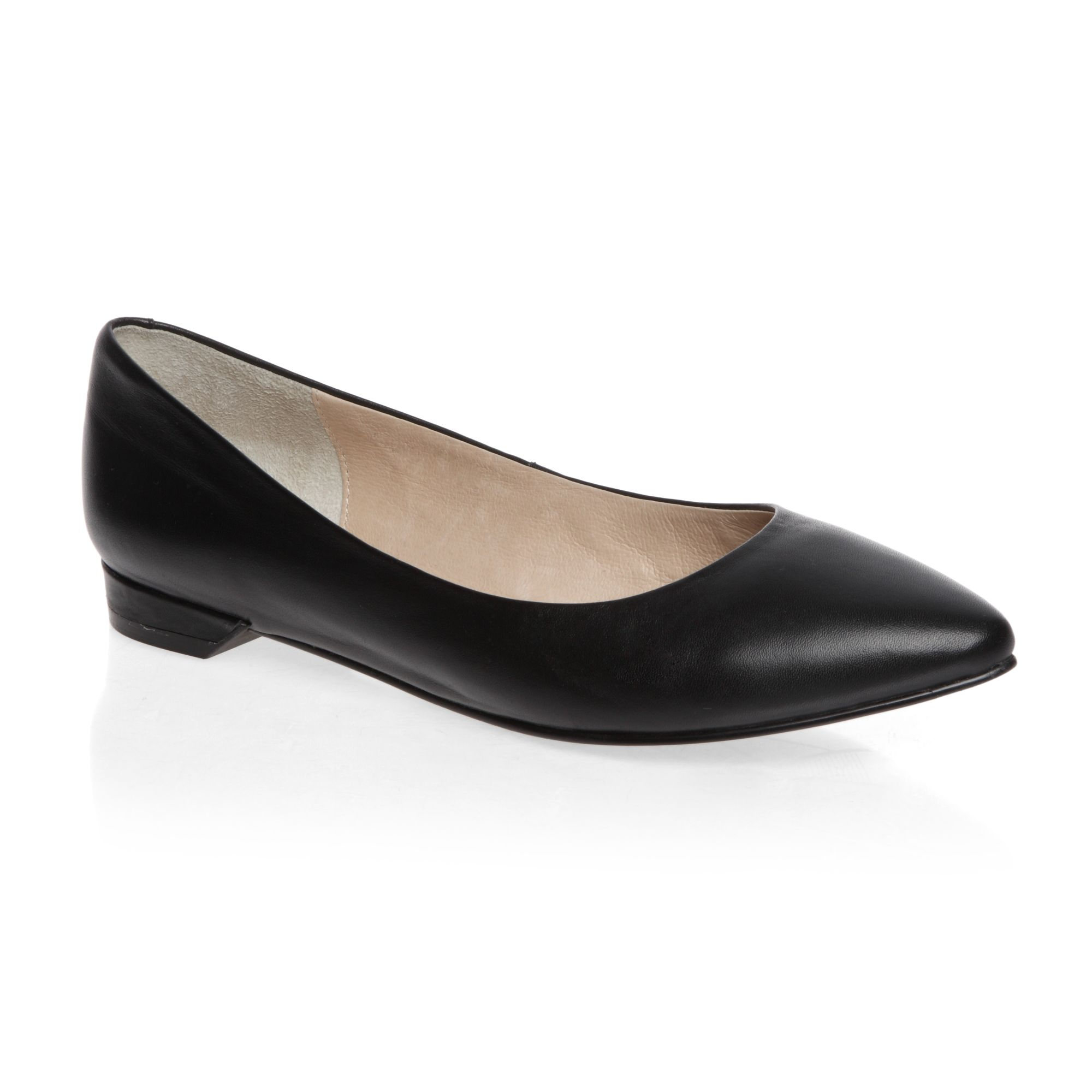 Wide Fit Black Pointed Shoes