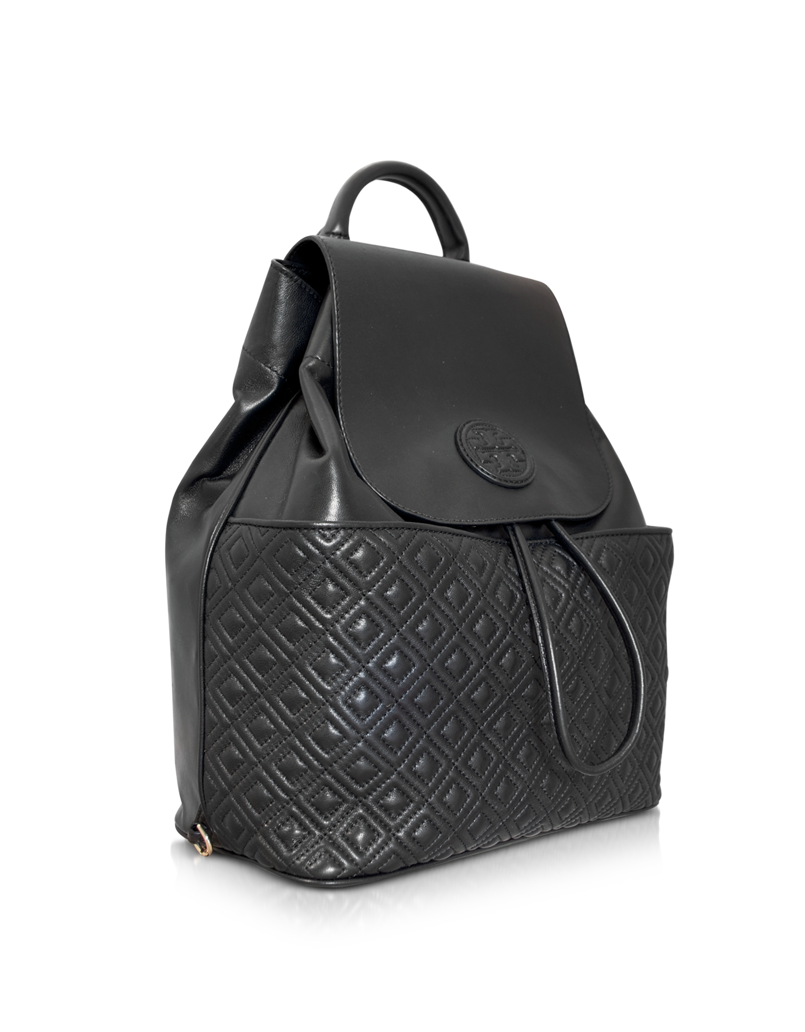 Lyst Tory Burch Marion Quilted Smooth Leather Backpack