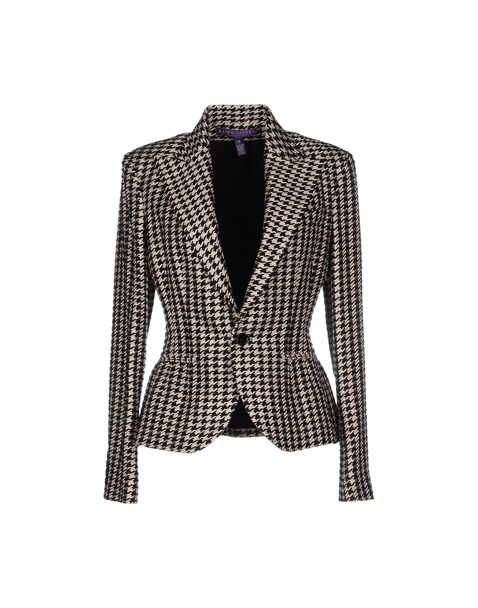 lyst ralph lauren collection lucinda houndstooth jacket in black. Black Bedroom Furniture Sets. Home Design Ideas