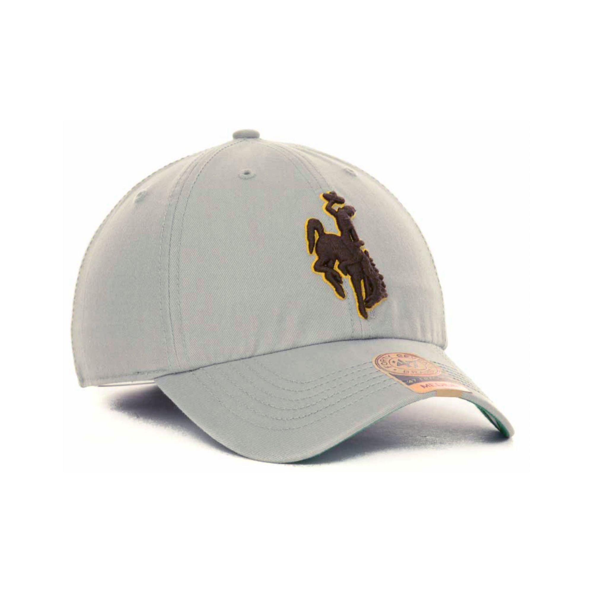 47 Brand Gray Wyoming Cowboys Ncaa 47 Grey Franchise Cap for men