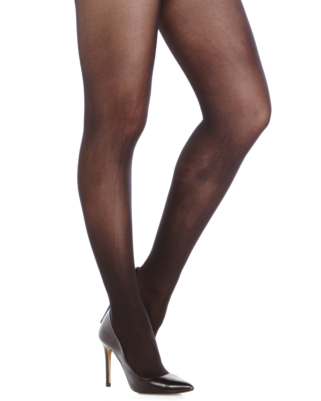 8ea5571a5ee13 Anne Klein Two-Pack Black Solid & Paisley Tights in Black - Lyst