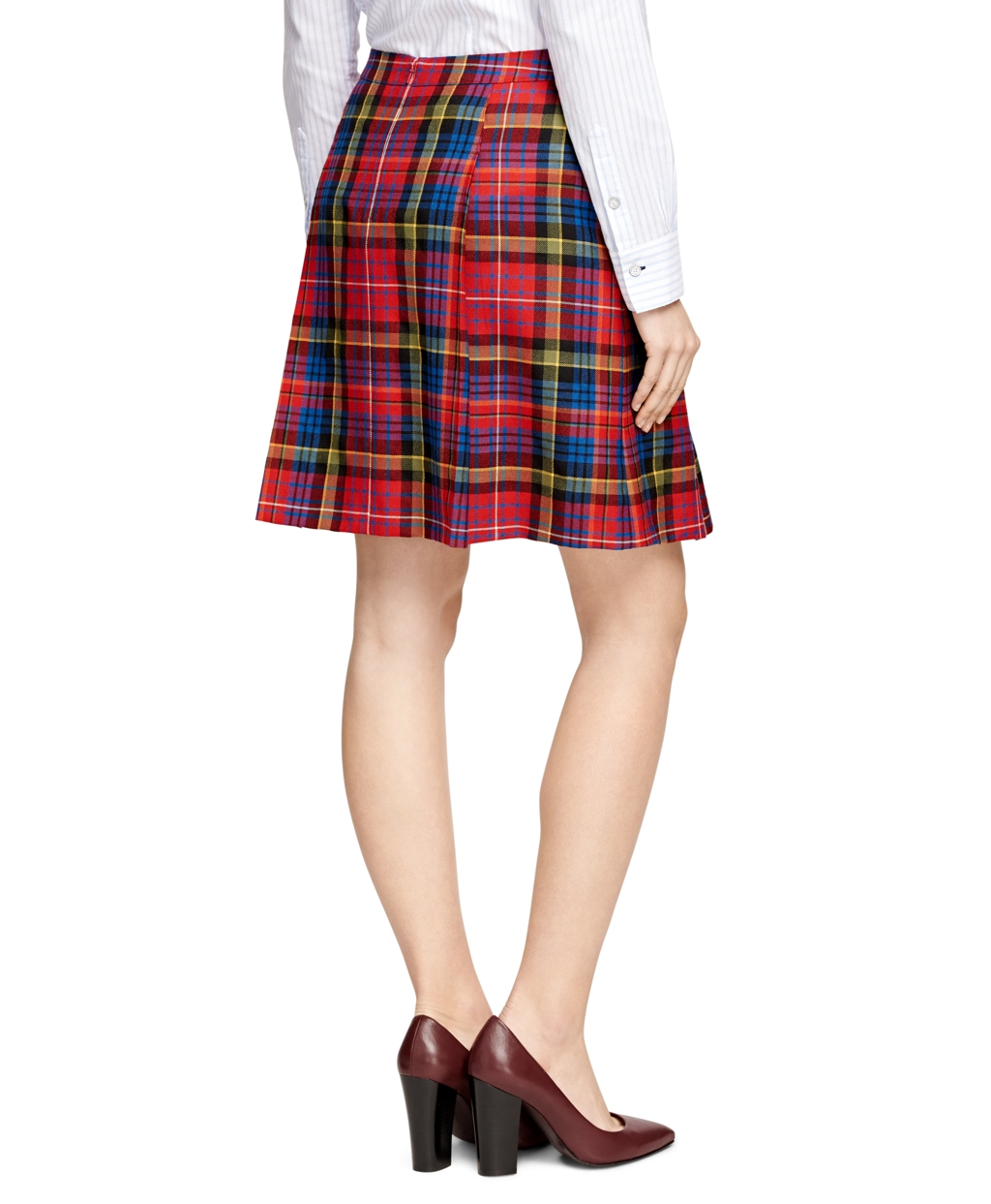 Brooks brothers Wool Tartan Plaid Skirt | Lyst