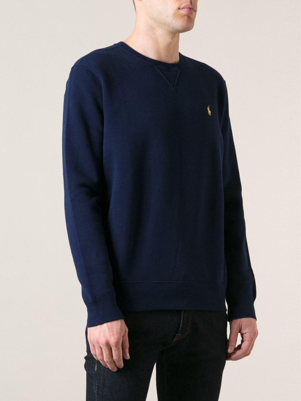 polo ralph lauren classic sweatshirt in blue for men lyst. Black Bedroom Furniture Sets. Home Design Ideas