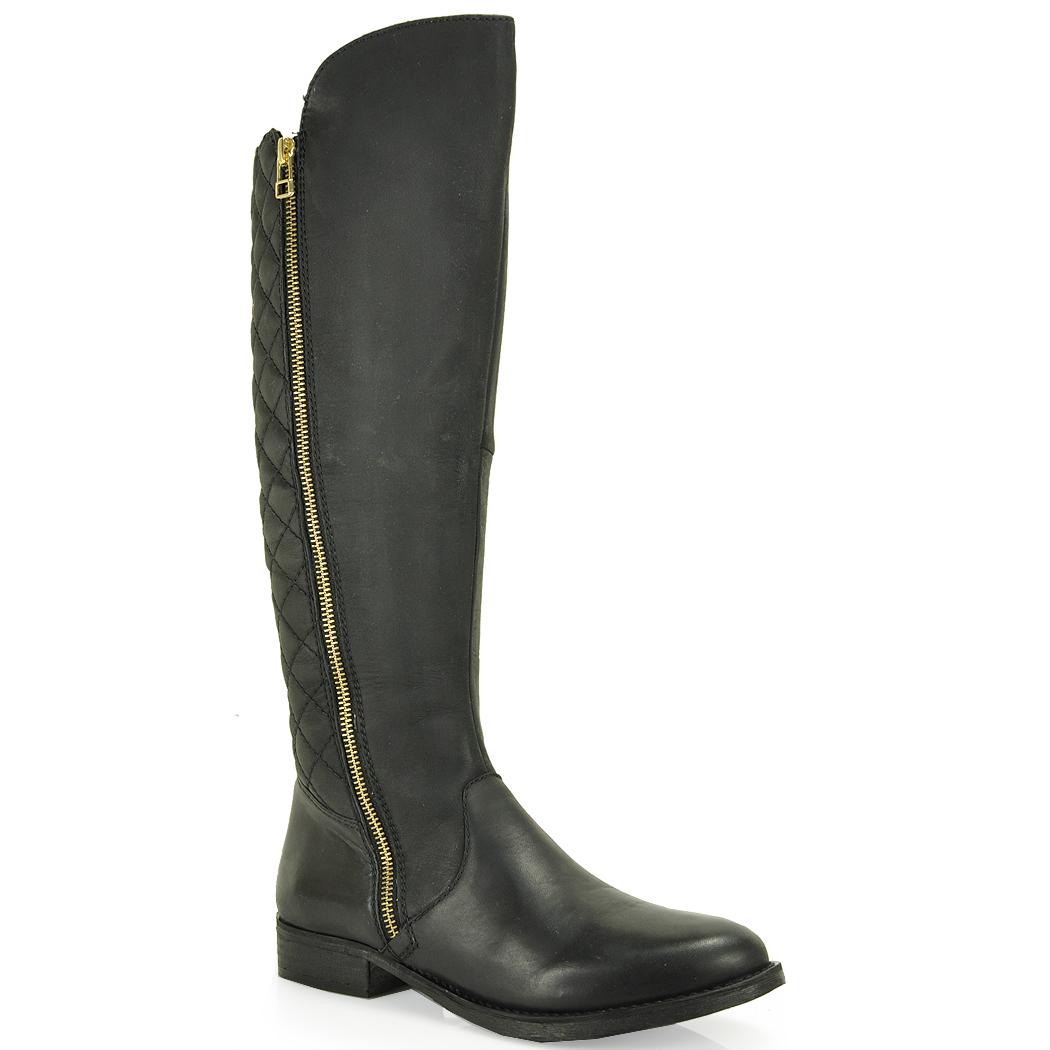 steve madden quilted boot in black lyst. Black Bedroom Furniture Sets. Home Design Ideas
